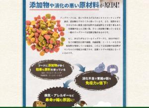 添加物や消化の悪い原材料